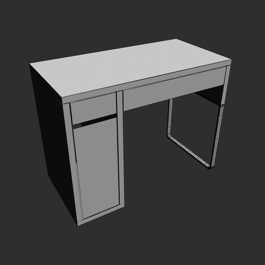 IKEA Micke royalty-free 3d model - Preview no. 10