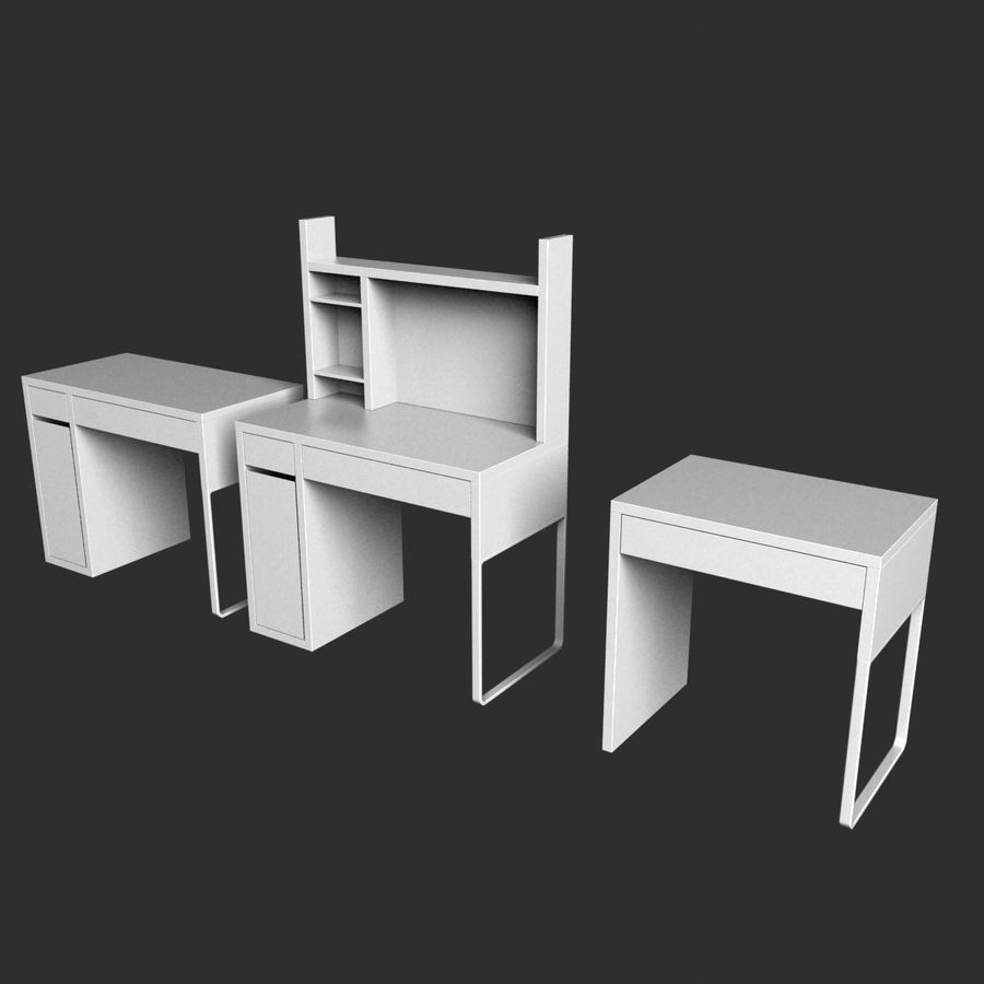 IKEA Micke royalty-free 3d model - Preview no. 3