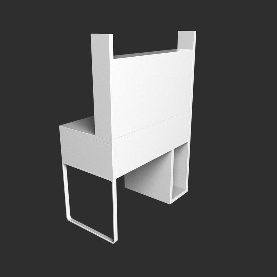 IKEA Micke royalty-free 3d model - Preview no. 4