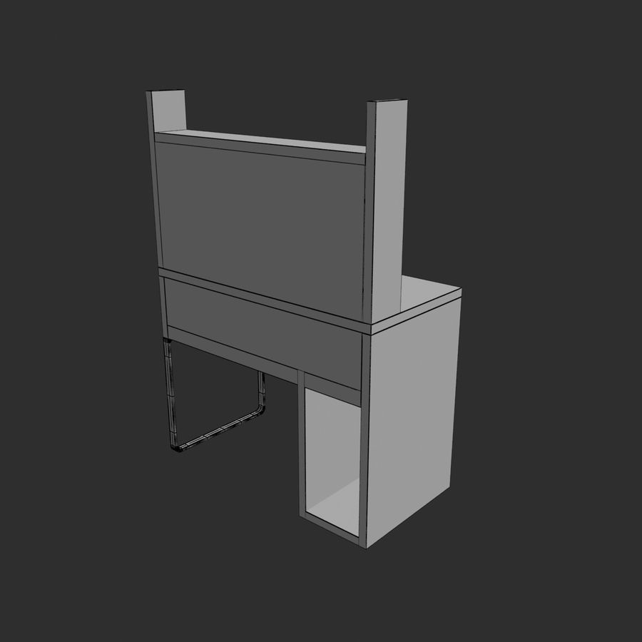 IKEA Micke royalty-free 3d model - Preview no. 9