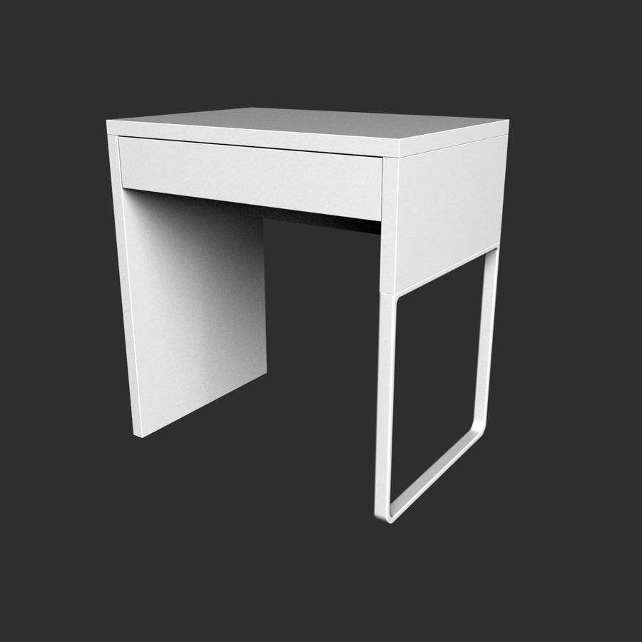 IKEA Micke royalty-free 3d model - Preview no. 7