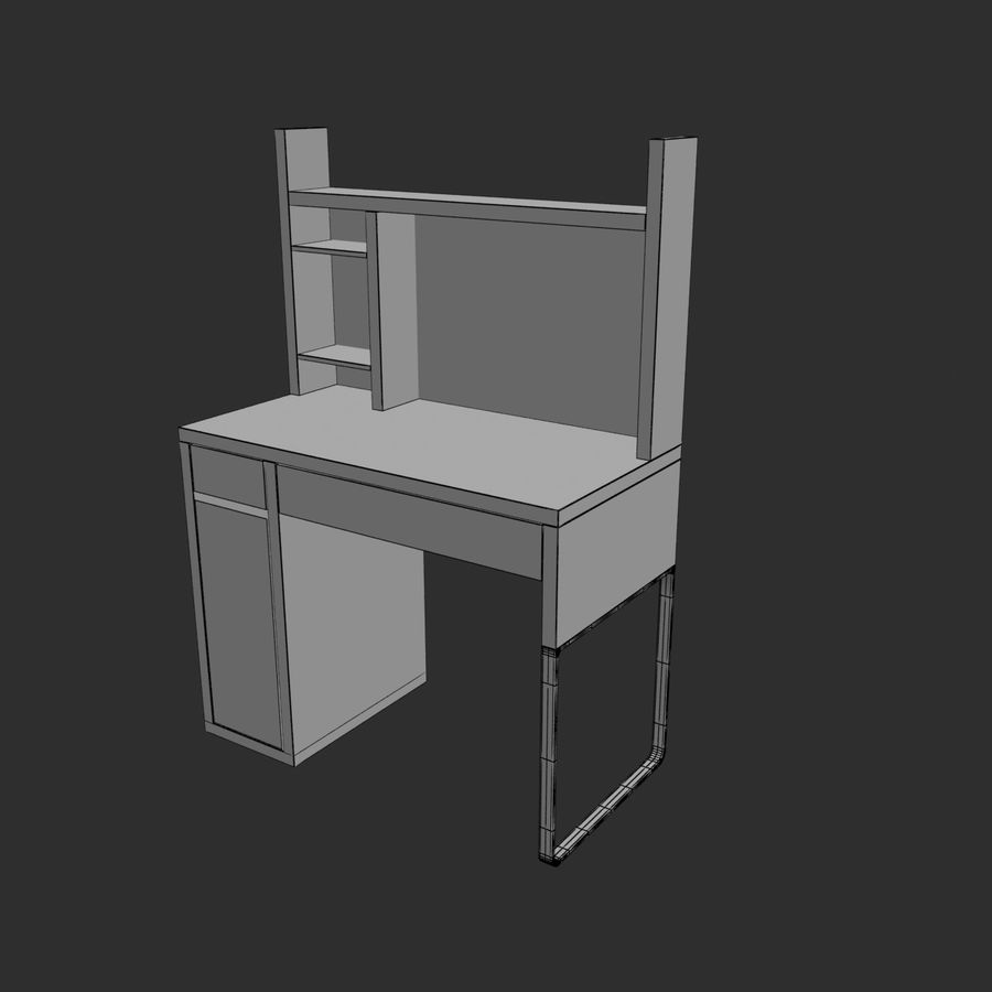 IKEA Micke royalty-free 3d model - Preview no. 8