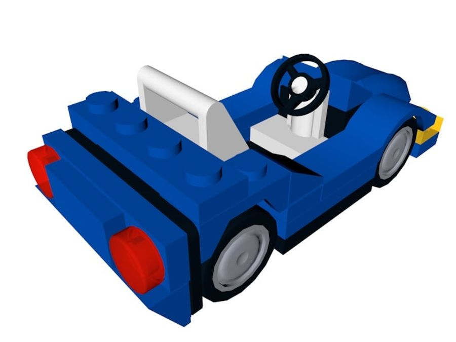 LEGO Sports Car royalty-free 3d model - Preview no. 2