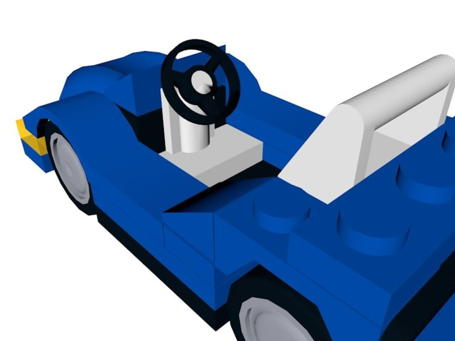 LEGO Sports Car royalty-free 3d model - Preview no. 5