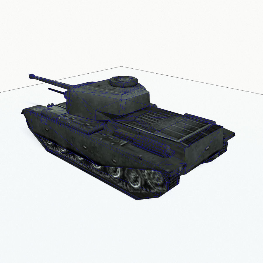 Centurion tank royalty-free 3d model - Preview no. 11