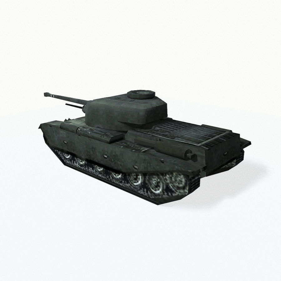 Centurion tank royalty-free 3d model - Preview no. 5