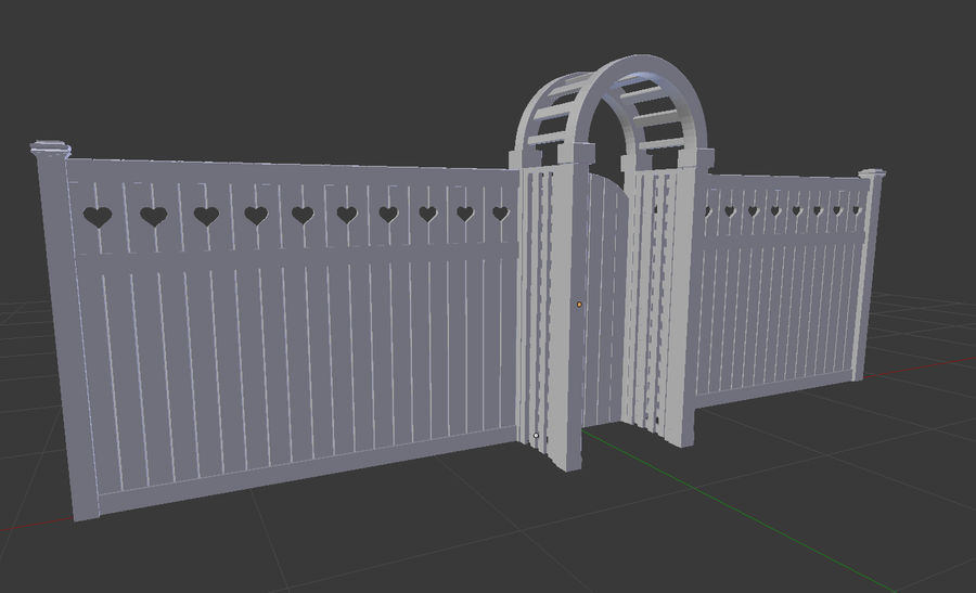 Holzzaun royalty-free 3d model - Preview no. 11