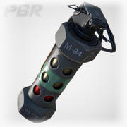 [PBR] M84 Stun Grenade (Real time) 3d model