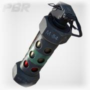 [PBR] Grenade paralysante M84 (temps réel) 3d model