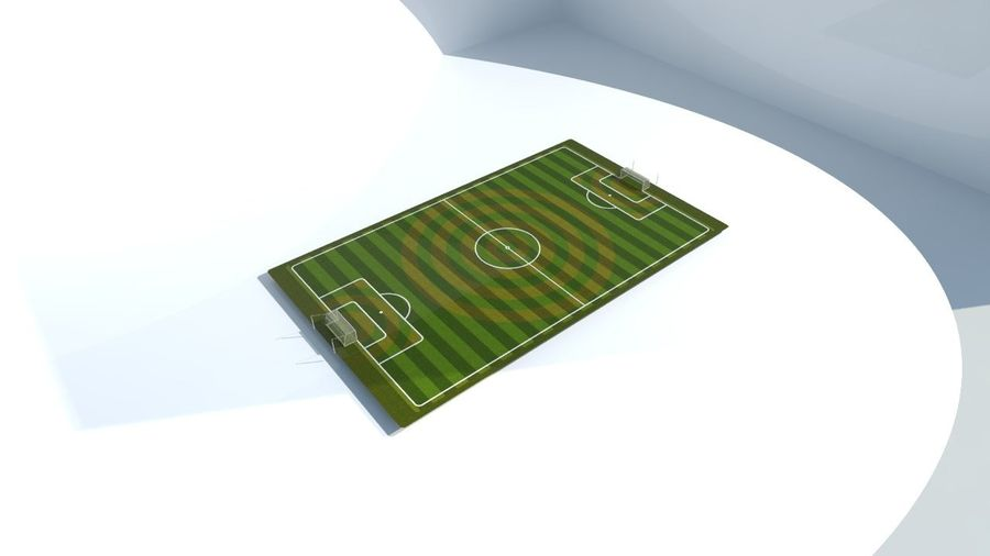 Soccer Stadium Field And Goals royalty-free 3d model - Preview no. 6