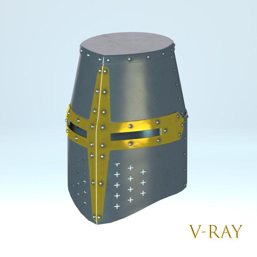 Hełm krzyżowca royalty-free 3d model - Preview no. 9