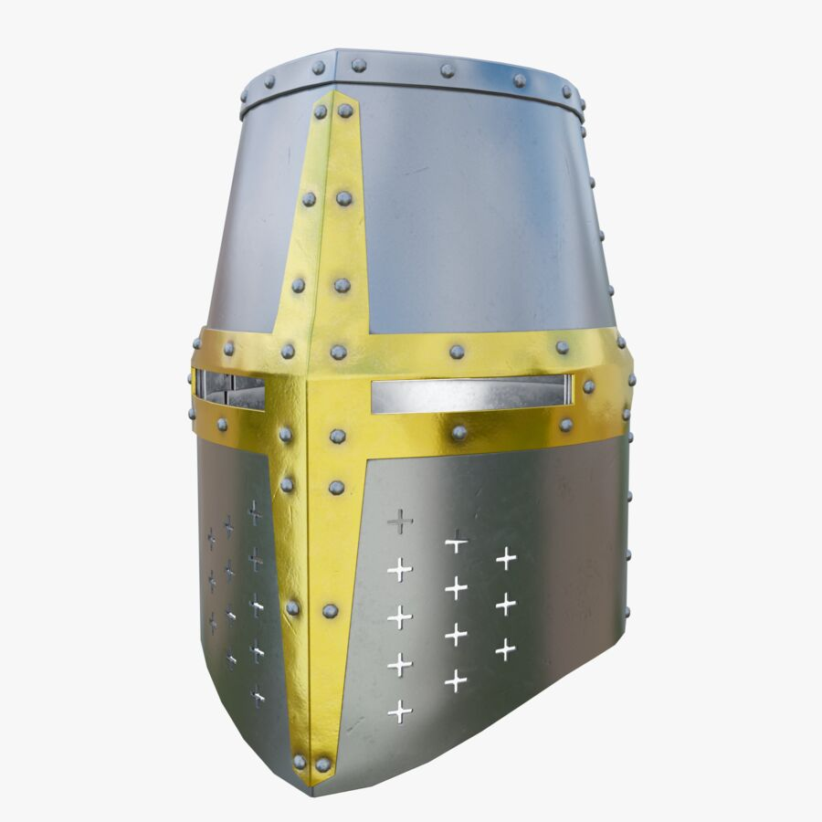 Crusader Helmet royalty-free 3d model - Preview no. 1
