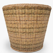 low poly basket 3d model