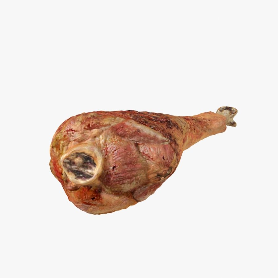Fried Chicken Leg 01 royalty-free 3d model - Preview no. 2