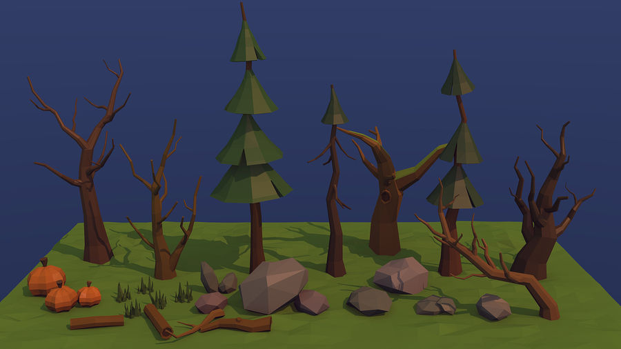 Forest asset royalty-free 3d model - Preview no. 1