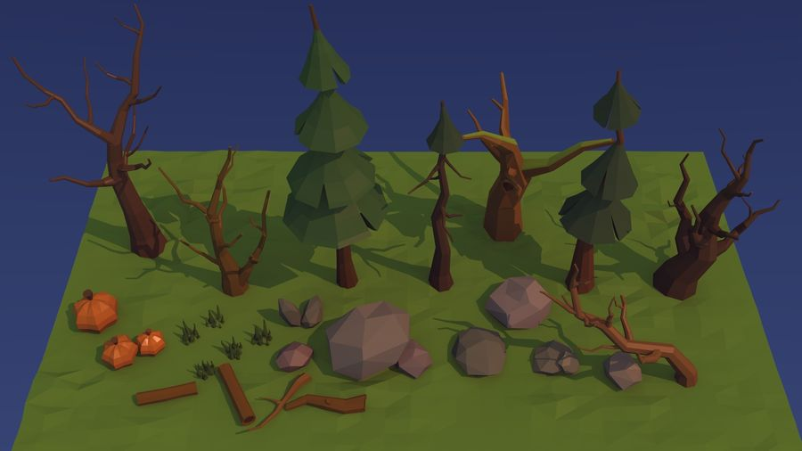 Forest asset royalty-free 3d model - Preview no. 3