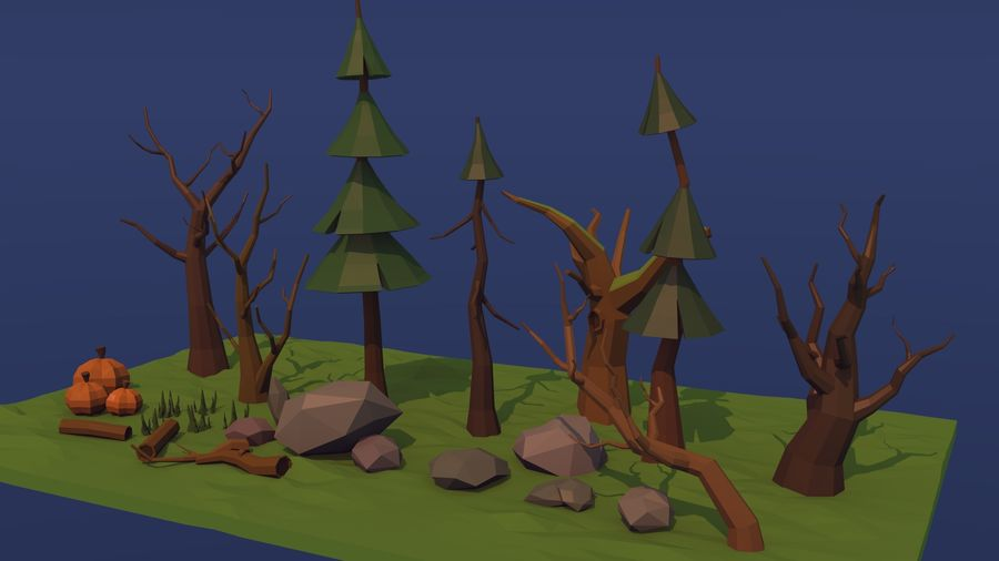 Forest asset royalty-free 3d model - Preview no. 2