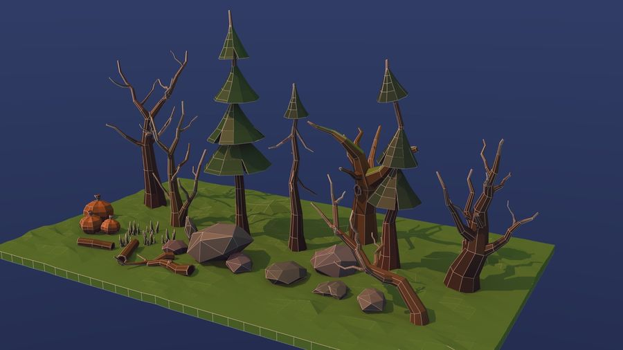 Forest asset royalty-free 3d model - Preview no. 6