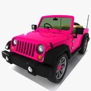Toon Jeep 3d model