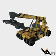 Reach stacker low poly 3d model