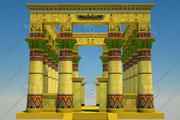 Egyptiska templet II 3d model