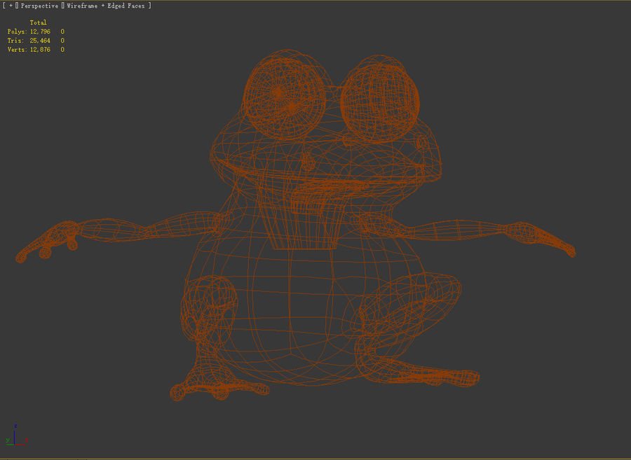 Cartoon_Frog royalty-free 3d model - Preview no. 7