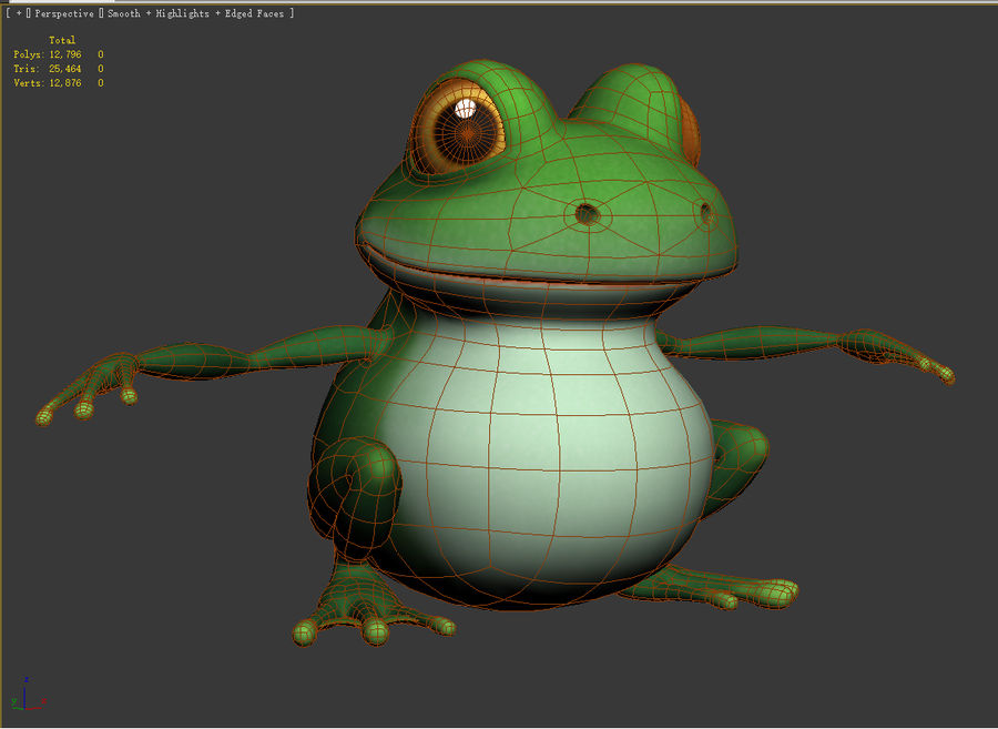 Cartoon_Frog royalty-free 3d model - Preview no. 5