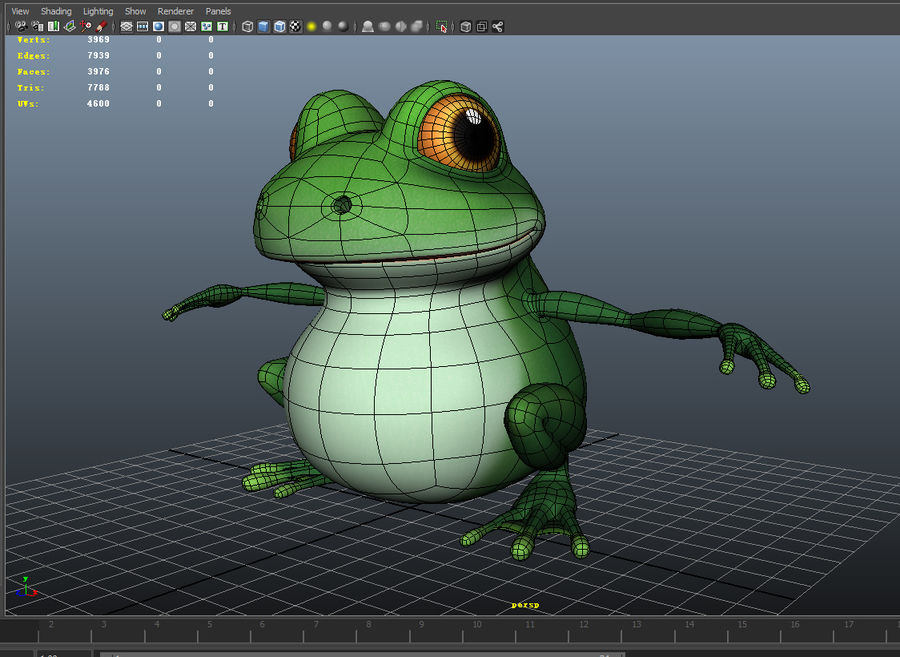 Cartoon_Frog royalty-free 3d model - Preview no. 8