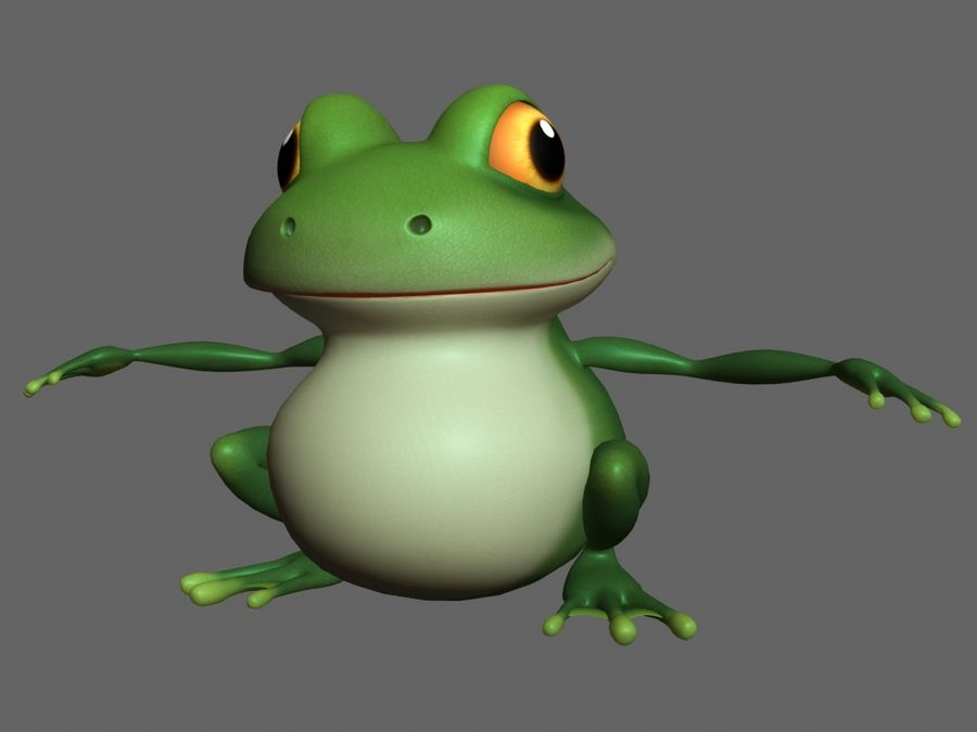 Cartoon_Frog royalty-free 3d model - Preview no. 1