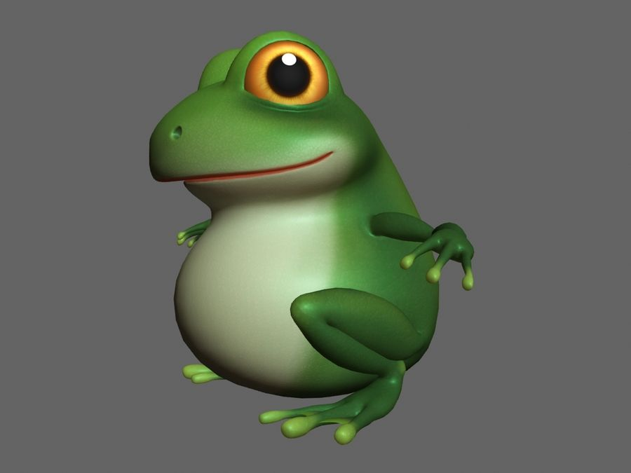 Cartoon_Frog royalty-free 3d model - Preview no. 2