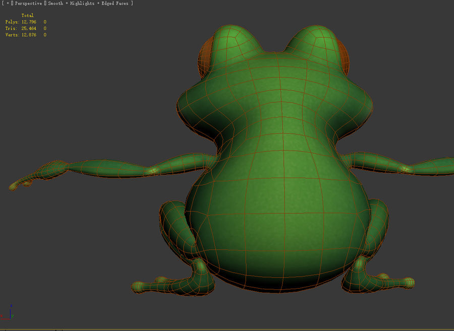 Cartoon_Frog royalty-free 3d model - Preview no. 6