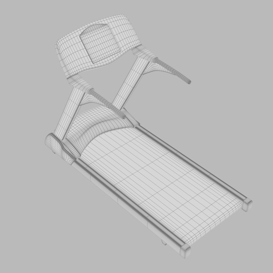 Treadmill royalty-free 3d model - Preview no. 5