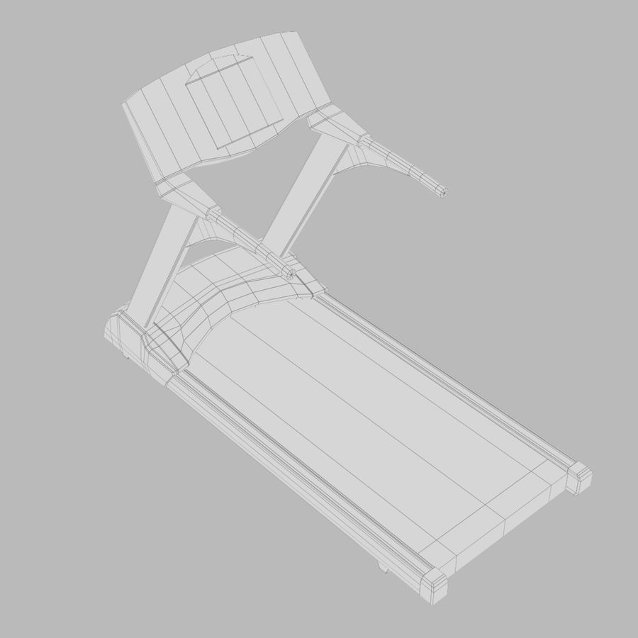 Treadmill royalty-free 3d model - Preview no. 6
