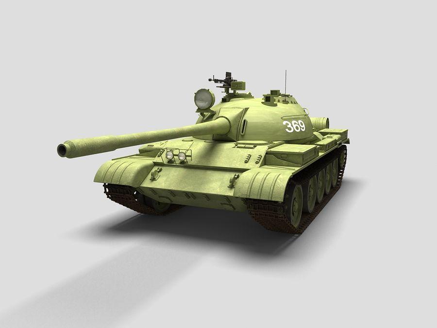 T-55 Tank royalty-free 3d model - Preview no. 2