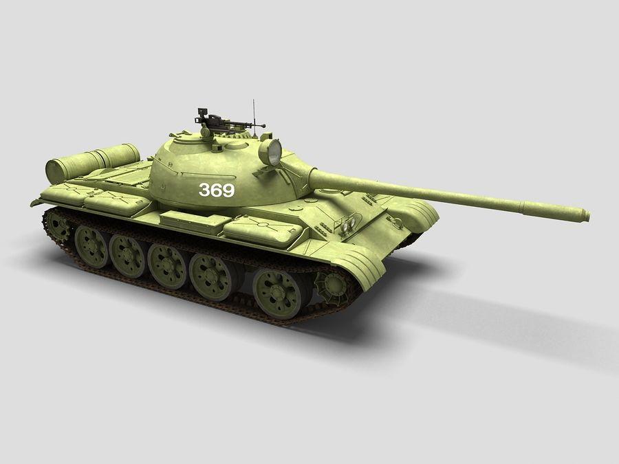 T-55 Tank royalty-free 3d model - Preview no. 1
