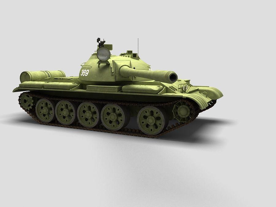 T-55 Tank royalty-free 3d model - Preview no. 3