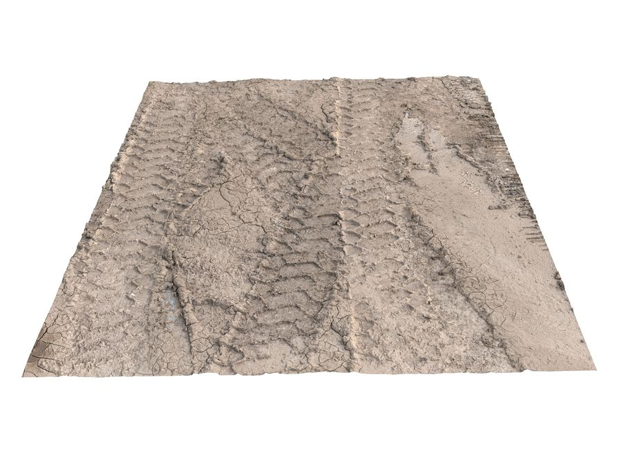 Tire Tracks Scan 16K royalty-free 3d model - Preview no. 3