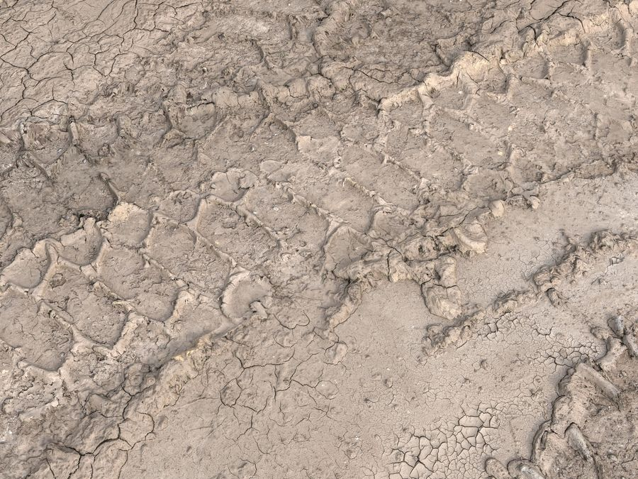 Tire Tracks Scan 16K royalty-free 3d model - Preview no. 2