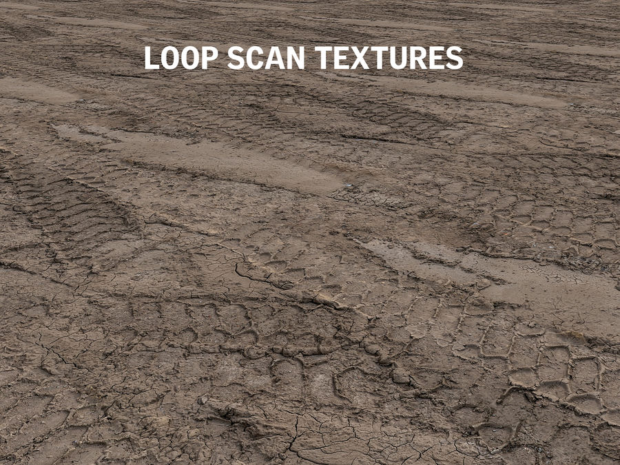 Tire Tracks Scan 16K royalty-free 3d model - Preview no. 8