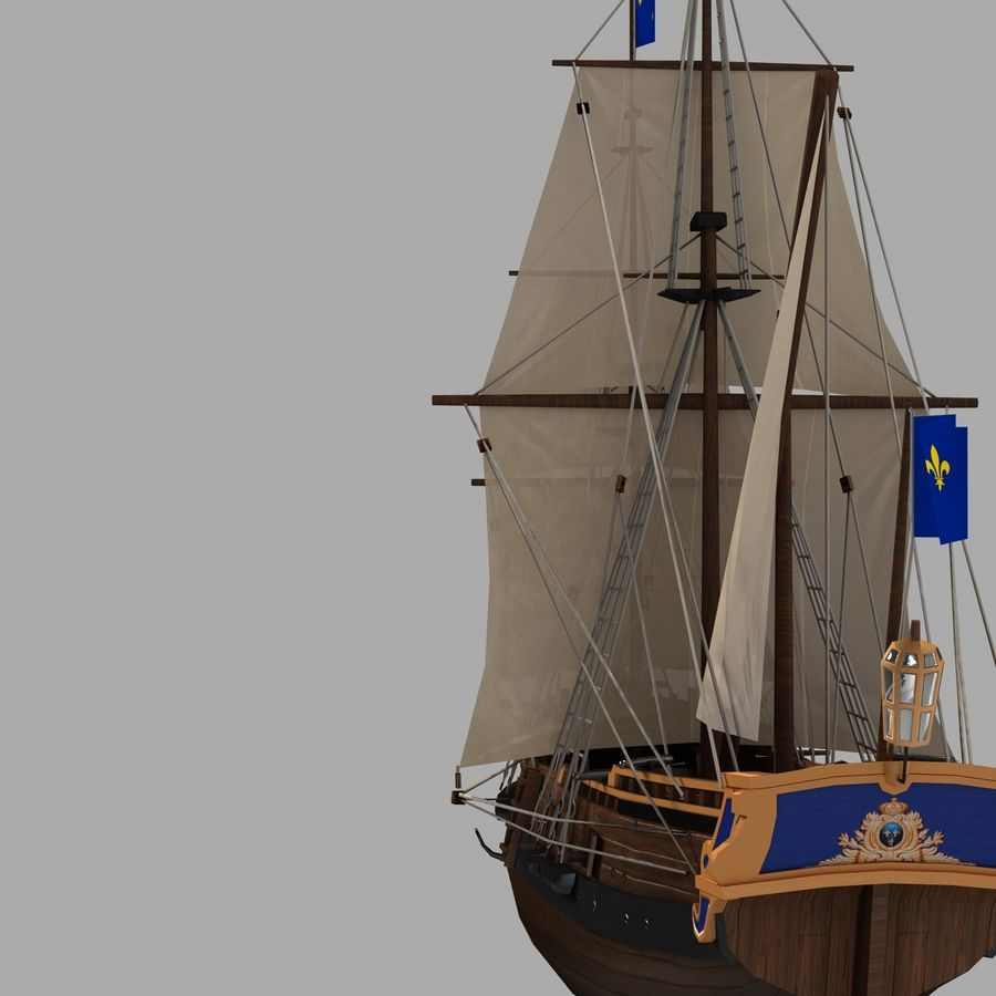 Sailing Ship royalty-free 3d model - Preview no. 3