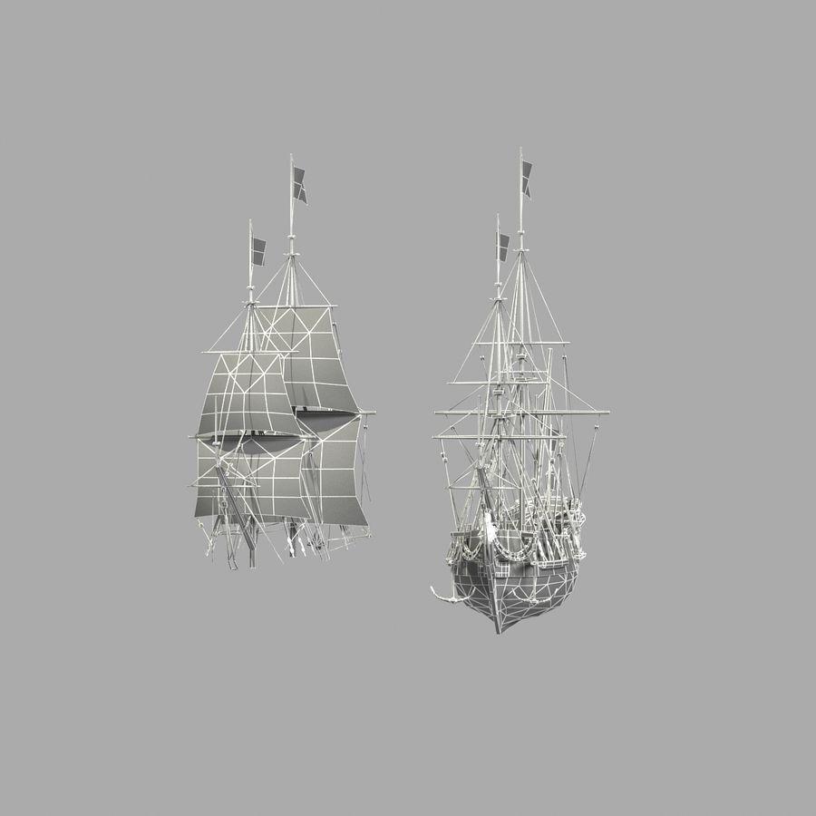 Парусное судно royalty-free 3d model - Preview no. 29