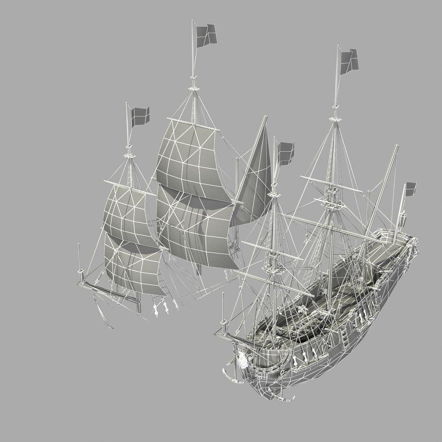 Парусное судно royalty-free 3d model - Preview no. 30