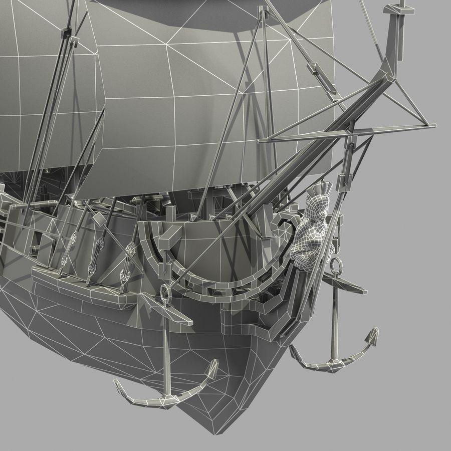 Sailing Ship royalty-free 3d model - Preview no. 21