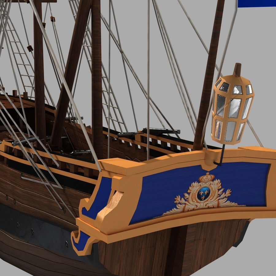 帆船 royalty-free 3d model - Preview no. 10