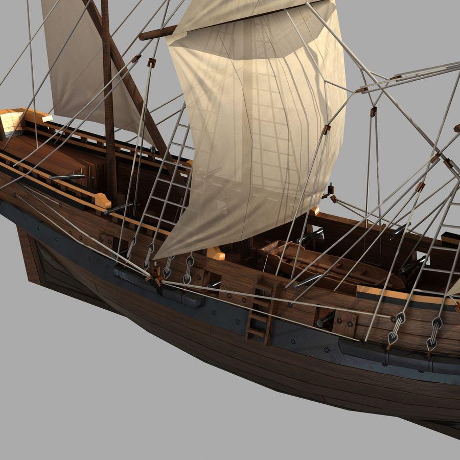Sailing Ship royalty-free 3d model - Preview no. 5