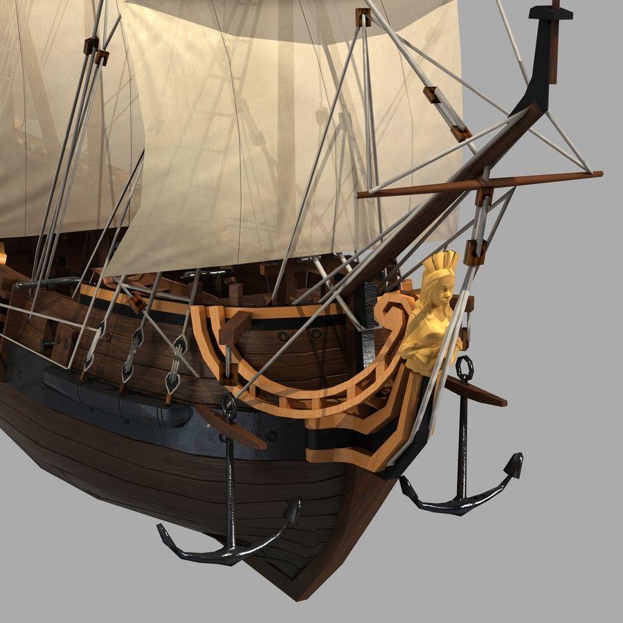 Sailing Ship royalty-free 3d model - Preview no. 6