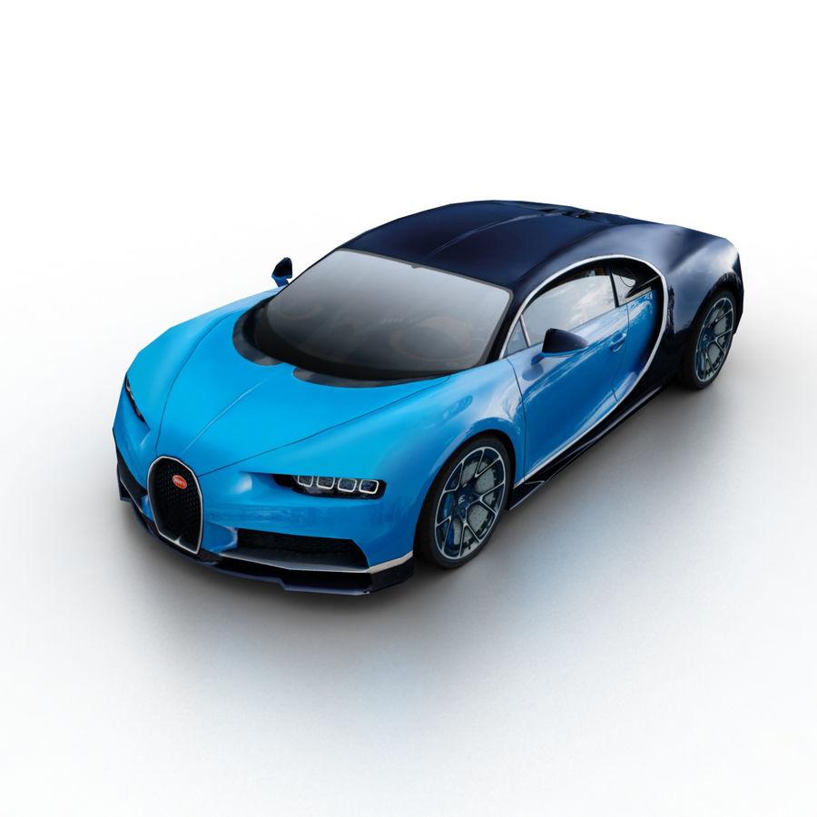 Bugatti Chiron 2016 royalty-free 3d model - Preview no. 1