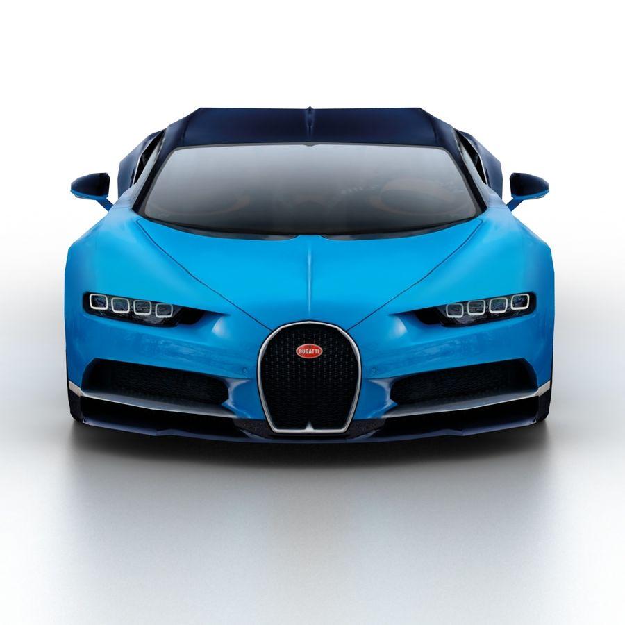 Bugatti Chiron 2016 royalty-free 3d model - Preview no. 4