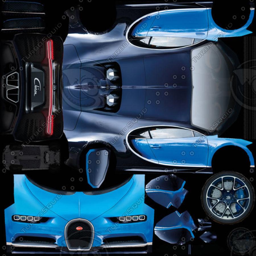 Bugatti Chiron 2016 royalty-free 3d model - Preview no. 9