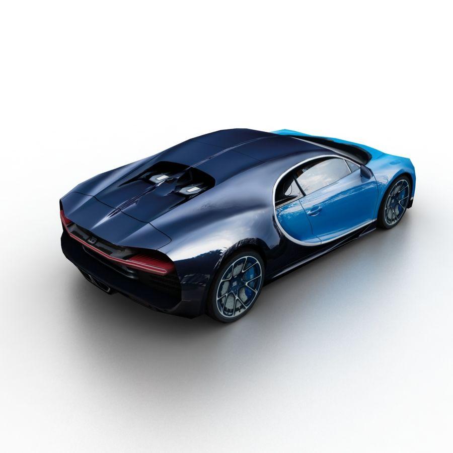 Bugatti Chiron 2016 royalty-free 3d model - Preview no. 2